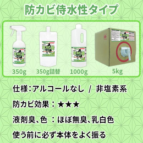 防カビ侍水性タイプの使い方と詳細